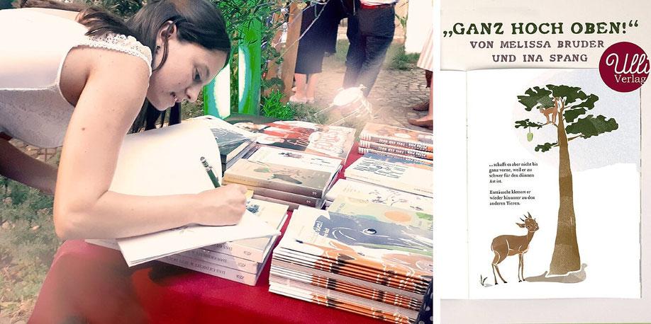 """Beim """"Hausacher LeseLenz 2019"""" in Baden-Württemberg stellt Melissa ihr Kinderbuch einem großen Publikum vor."""