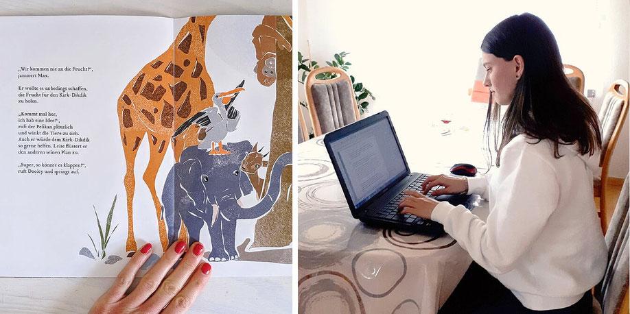 Die räumliche Distanz zwischen Schwarzwald und Oberbayern bereitete Autorin Melissa und Illustratorin Ina bei der Zusammenarbeit keine Schwierigkeiten.