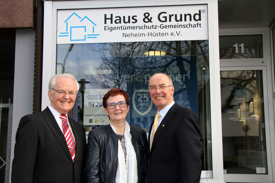 Gerd Schulte, Birgit Sippel, Wilfried Gothe (v.l.)
