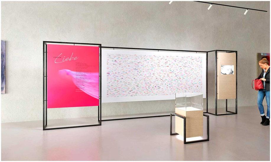 """Visualisierung von Markus Peheim der Installation von """"Signatur Liebe"""""""