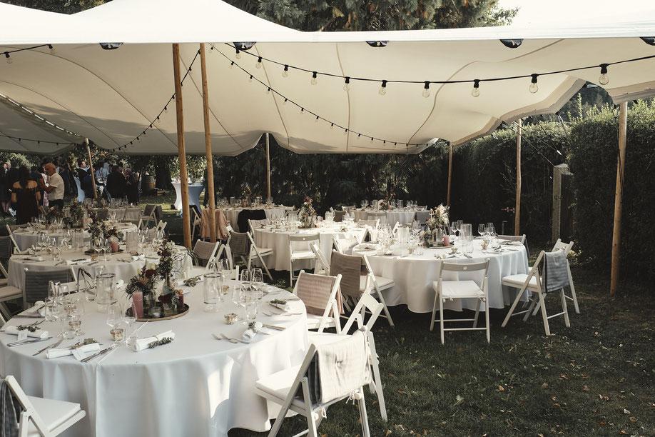 Hochzeitszelt mieten im Allgäu - Hochzeit auf Weingut