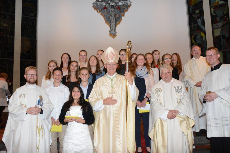 Firmung in St. Augustinus & Monika am 08.09.2017