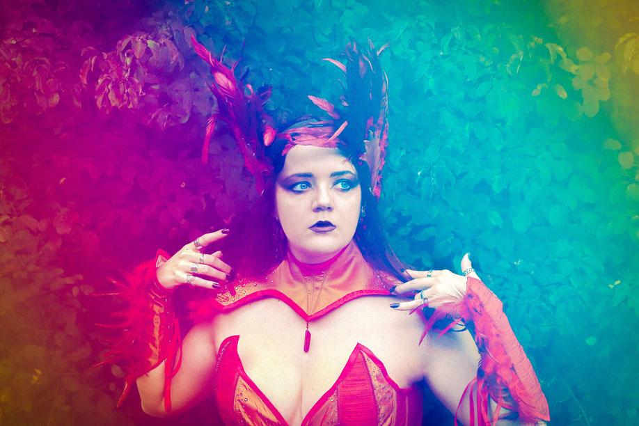 costume corset phoenix  médiéval fantastique