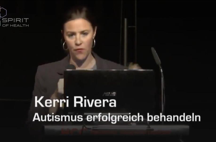 Foto Kerri Riviera: MMS-Werbung auf dem Spirit of Health-Kongress 2014 (Screenshot: MedWatch.de)
