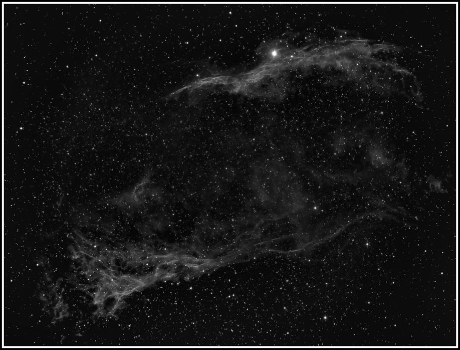 NGC 6960 und Pickering´s Triangle - Erstes H-Alpha-Bild  MeixnerObservatorium