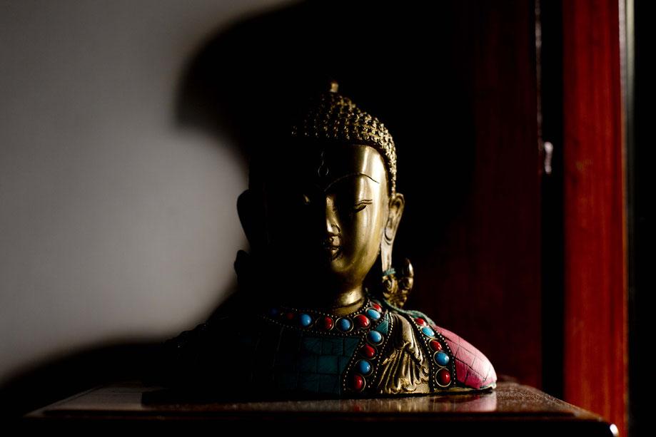 Nachttisch Buddha, Delhi, Indien