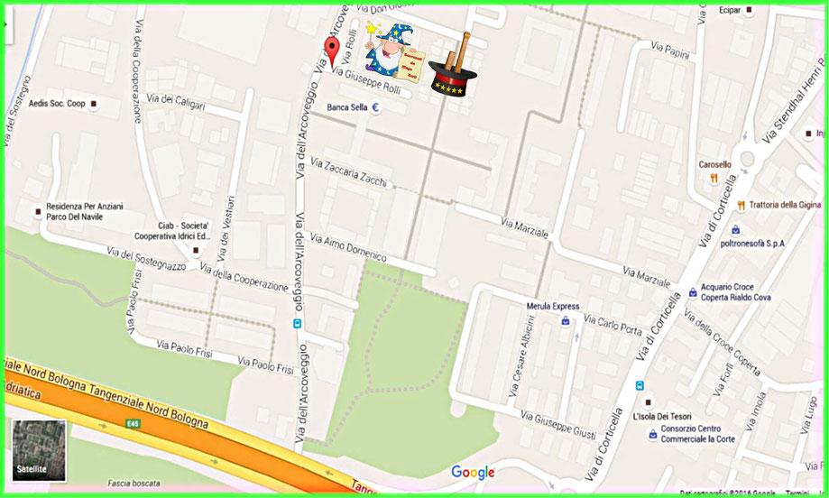 Mappa Mago Zurlì - Appartamento Bologna