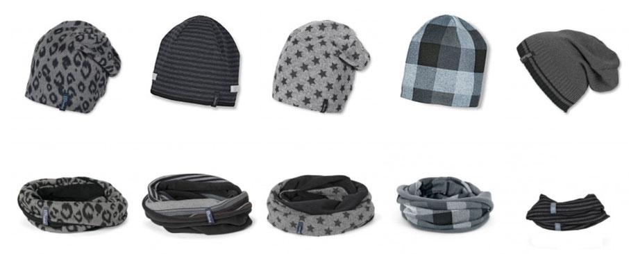 Kopfbedeckung Wintermützen und Loop für coole Kinder