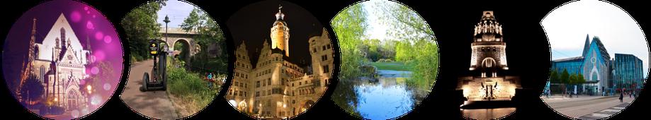 Segway Touren in Leipzig: Thomaskirche, Karl-Heine-Kanal, Neues Rathaus, Zooschaufenster, Völkerschlachtdenkmal, Paulinum