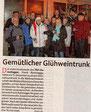 Zeitungsbericht im Weser Kurier vom 05.01.2020