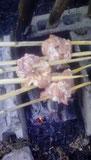 炭火の魔力 焼き鳥 自作竹串 竹串作り方