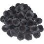 Pompoms schwarz, 10 mm
