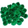Pompoms grün, 10 mm