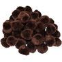 Pompoms braun, 10 mm