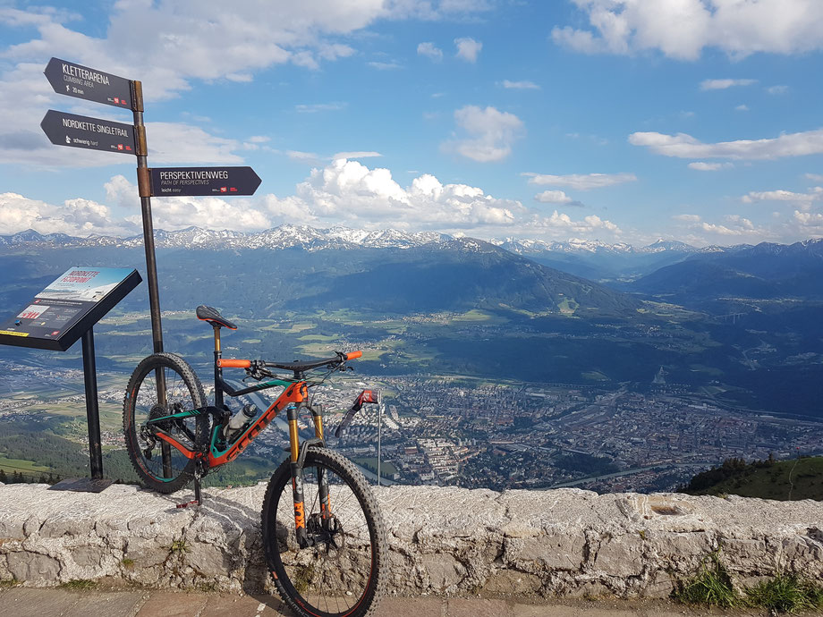 Scott Genius 900 Tuned 2018 above Innsbruck