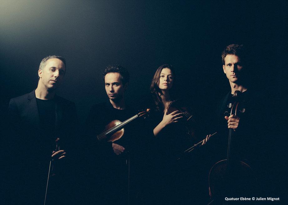 Le Quatuor Ebène, direction artistique et programme du festival LES CHAISES MUSICALES
