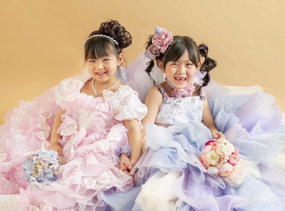 七五三 姉妹 ドレス