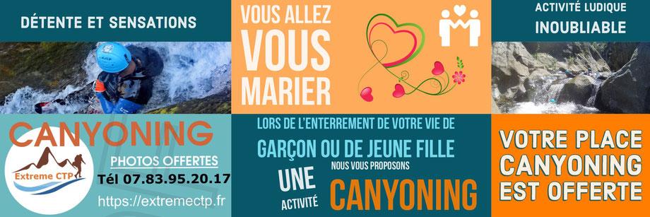 Activité Canyoning Pyrénées orientales pour enterrement vie de célibataire