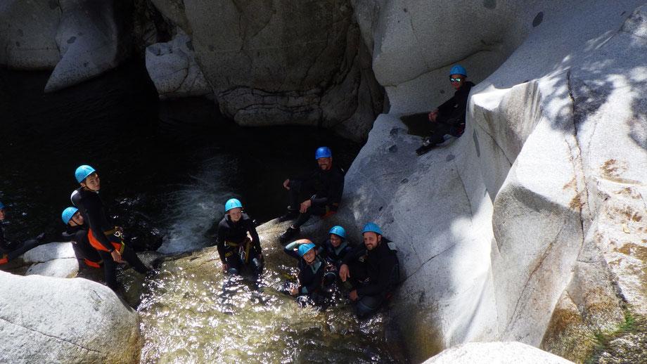 Canyoning Pyrénées Orientales avec extremectp, en famile, entre amis