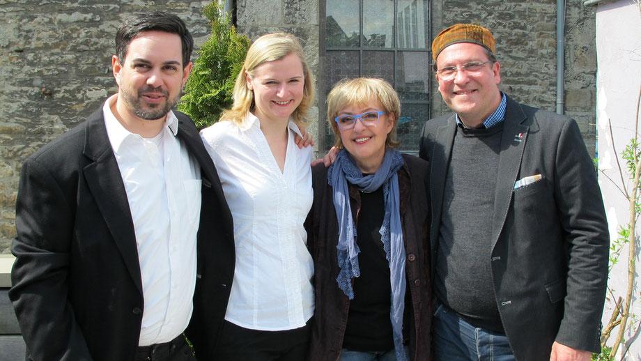 Phillip Seibel und Nadine Schuimer aus Velbert, Petra und Ingo Grenzstein aus Mettmann
