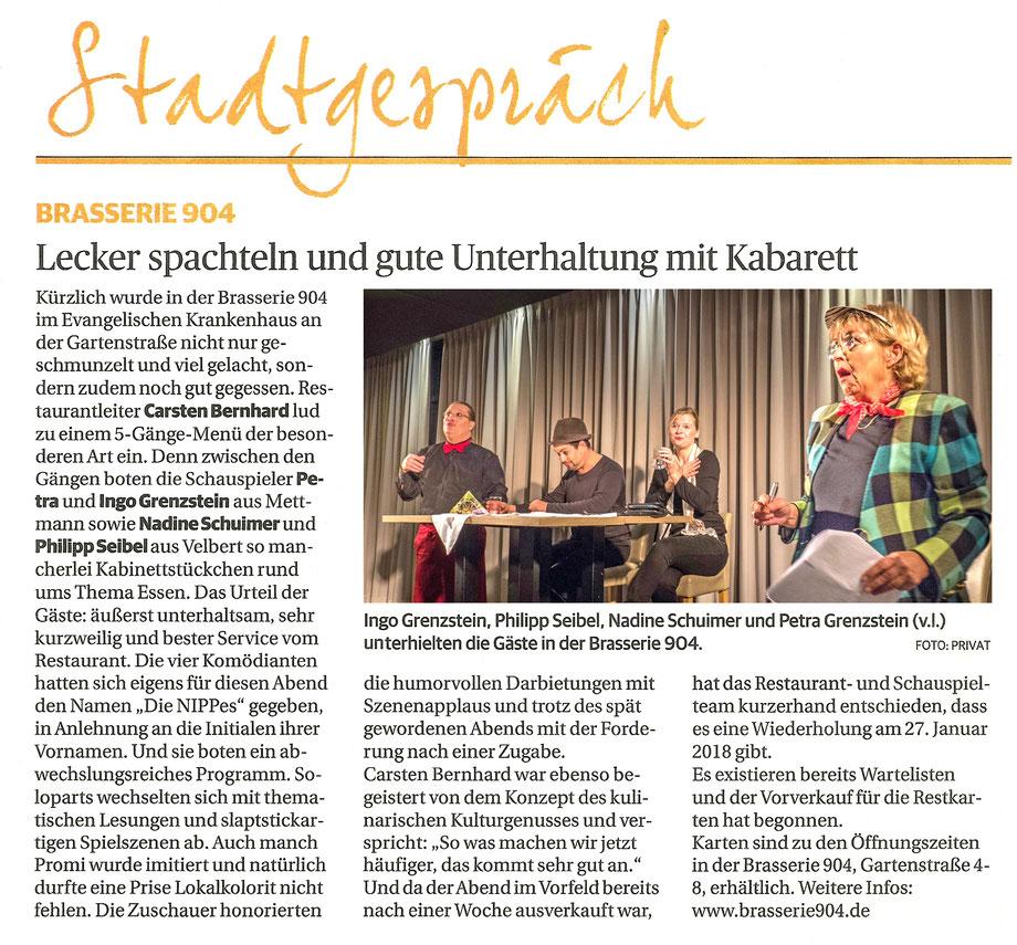 Artikel in der Rheinischen Post vom 10.11.2017