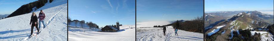winterwandern schneeschuhtouren jura