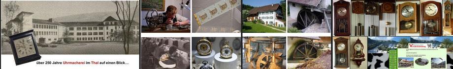Uhrenmuseum im Thal zwischen den Juraketten mit altem und neuem Handwerk der schweizer Geschichte