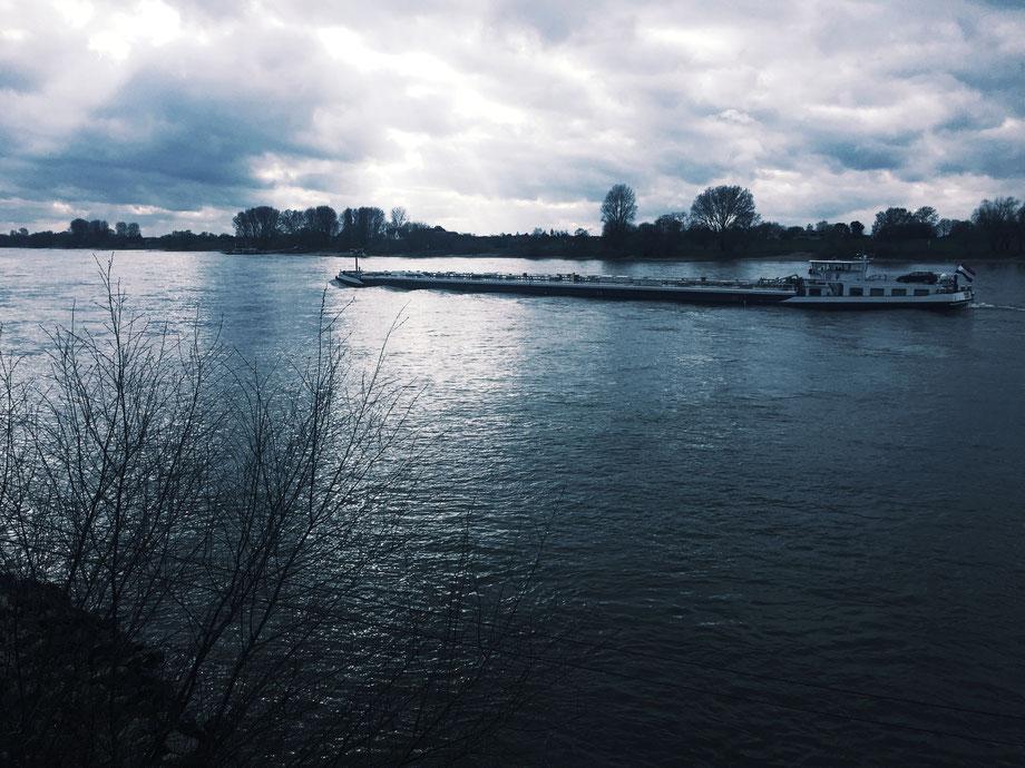 Rhein bei Düsseldorf-Kaiserswerth