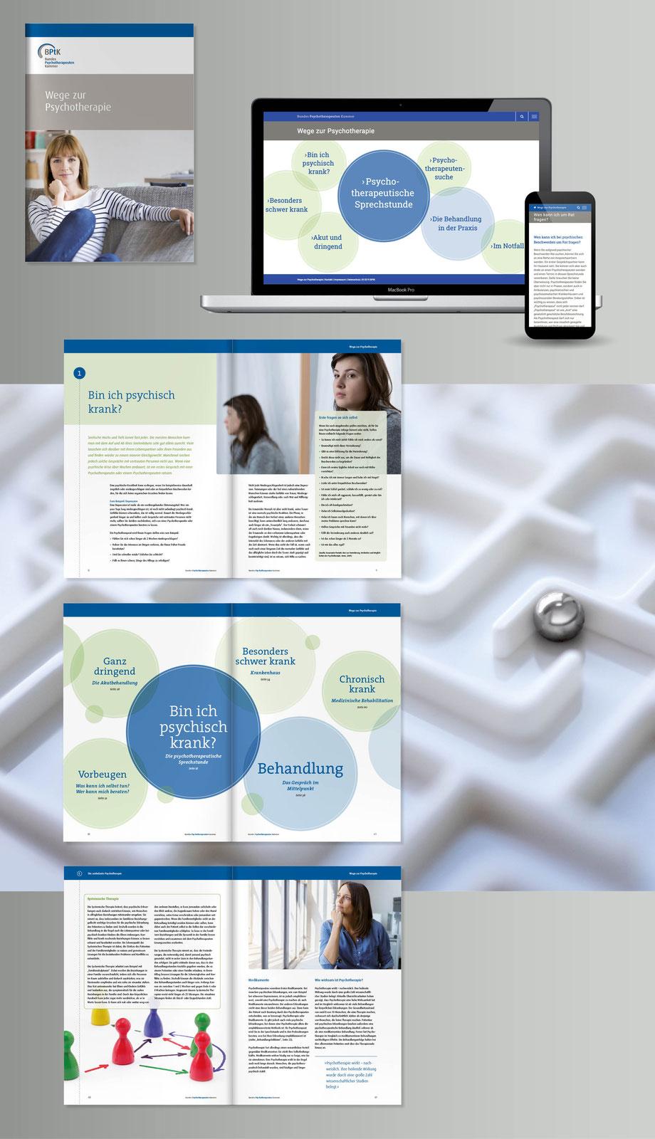 Broschüre und Webseite