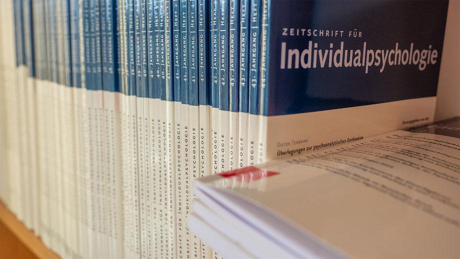 Foto einer 'Titelseite der Zeitschrift für Individualpsychologie