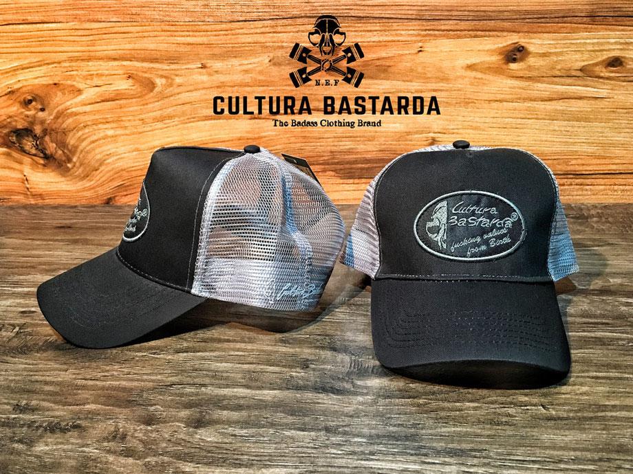 gorra cafe racer, camionero, trucker, gorras, gris, gastada, grey, stone washed, cultura bastarda, cap