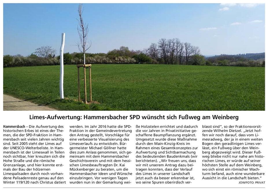 Hanauer Anzeiger vom 24.4.2019 / Mit freundlicher Erlaubnis des Hanauer Anzeiger; vielen Dank!