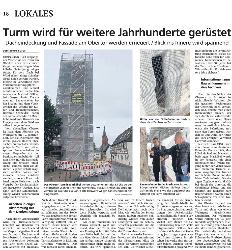 Hanauer Anzeiger vom 8.10.2021, Seite 18. Mit freundlicher Genehmigung des Hanauer Anzeiger; vielen Dank!