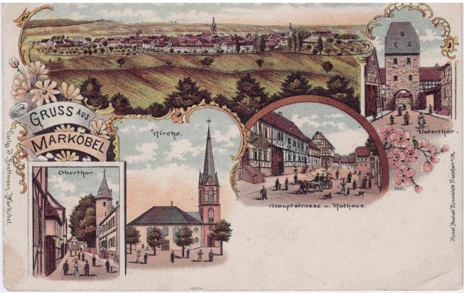 Gruß aus Marköbel im Jahr 1900