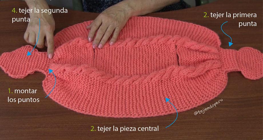 b14c25bf4 Bolero gatito en dos agujas para niñas - Tejiendo Perú
