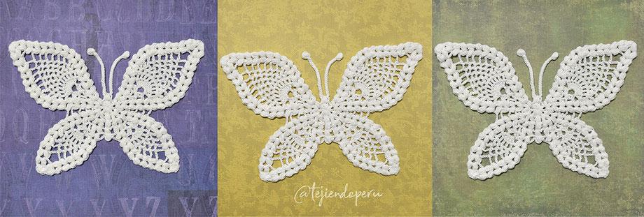 Mariposa vintage tejida a crochet