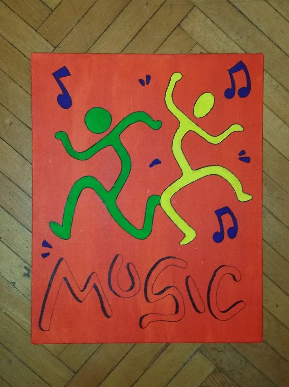 MUSIC - Acrilico su tela 40x50 cm