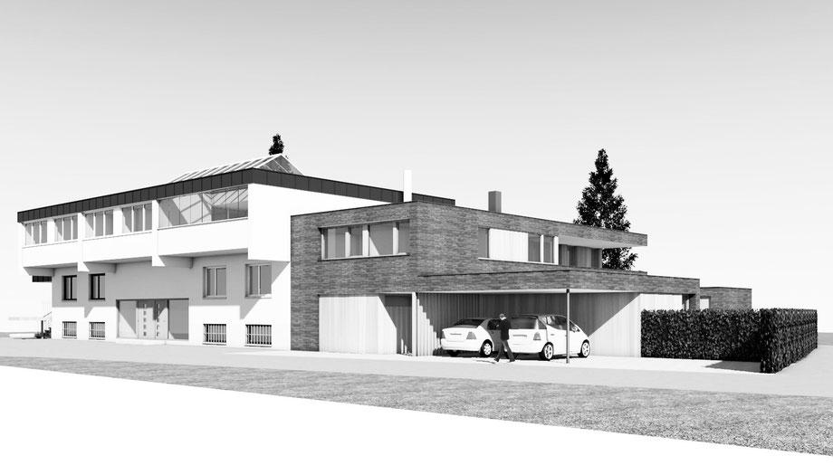 Zubau/Neubau Einfamilienhaus O., Altach