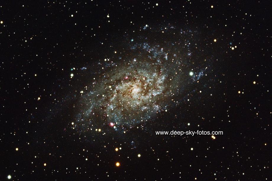 """Die Triangulum Galaxie (ca 3 Millionen Lichtjahre entfernt) wird auch """"Whirlpool"""" genannt (Foto erstellt im Herbst 2020)."""