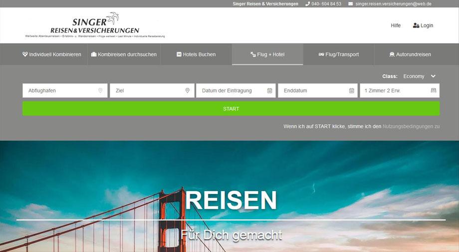 Flüge-Rundreisen-Baden-Urlaub-Reisevorschläge-Weltweit von Singer Reisen & Versicherungen zusammengestellt. Peiswert & Fair.