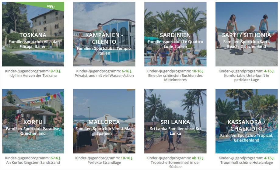 Aktiv- Sportreisen individuell und in der Gruppe bei Singer Reisen & Versicherungen buchen...
