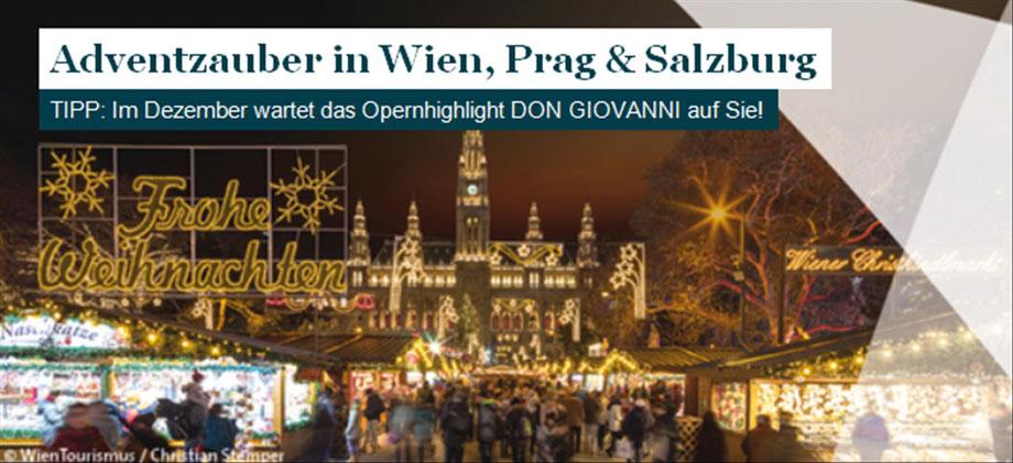 Wien zur Advents Weihnachtzeitmit Singer Reisen und Versicherungen erleben.....
