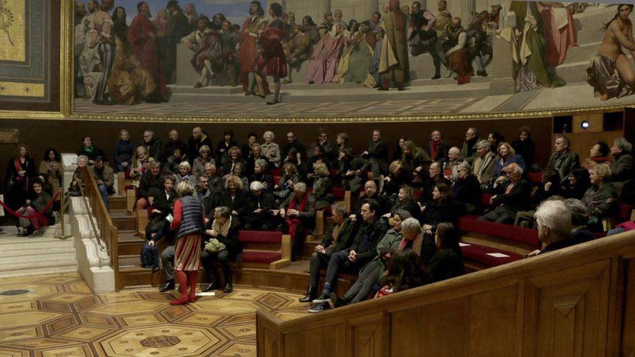 Remise du Prix le 13 Mars 2019, dans l'amphithéâtre des Beaux-Arts de Paris.