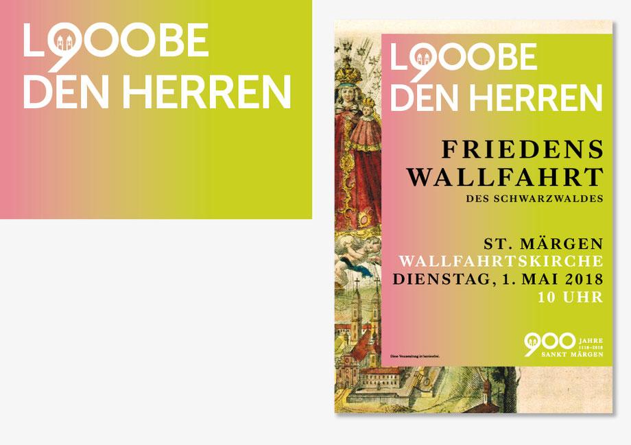Lobe Den Herren – Sankt Märgen 900 Jahre Jubiläum Friedenswallfahrt des Schwarzwaldes, Plakat