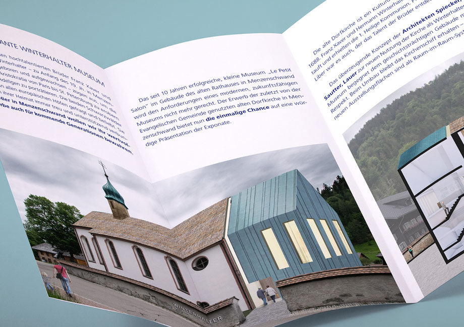 Winterhalter in Menzenschwand, Winterhalter Museum, Fundraising-Leaflet