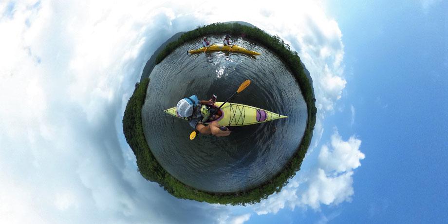 浦内川河口/マングローブの水路