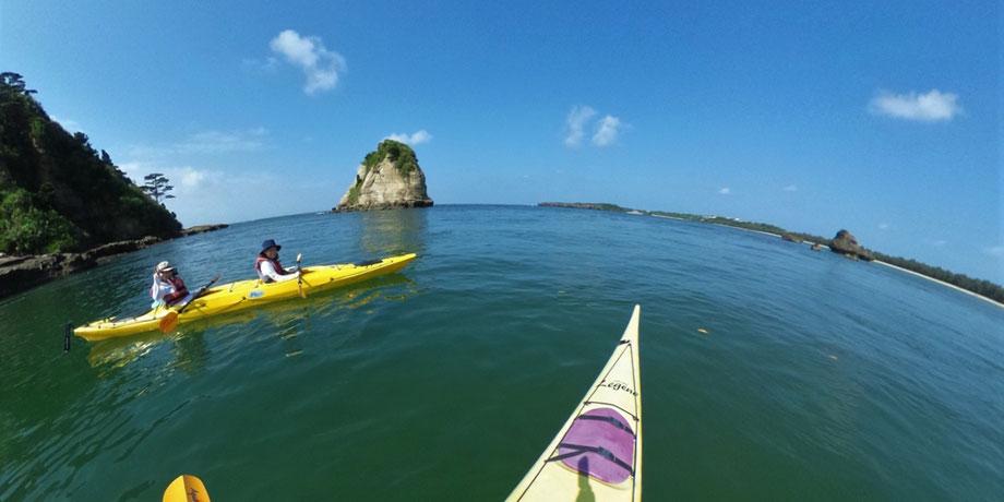シーカヤック/月ヶ浜とアトク岩
