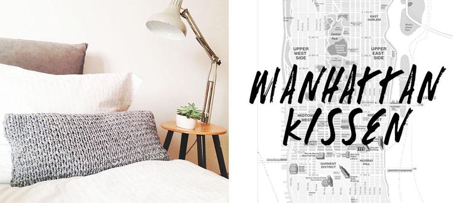 Strickset für Anfänger: Manhattan Kissen von Wooltwist!