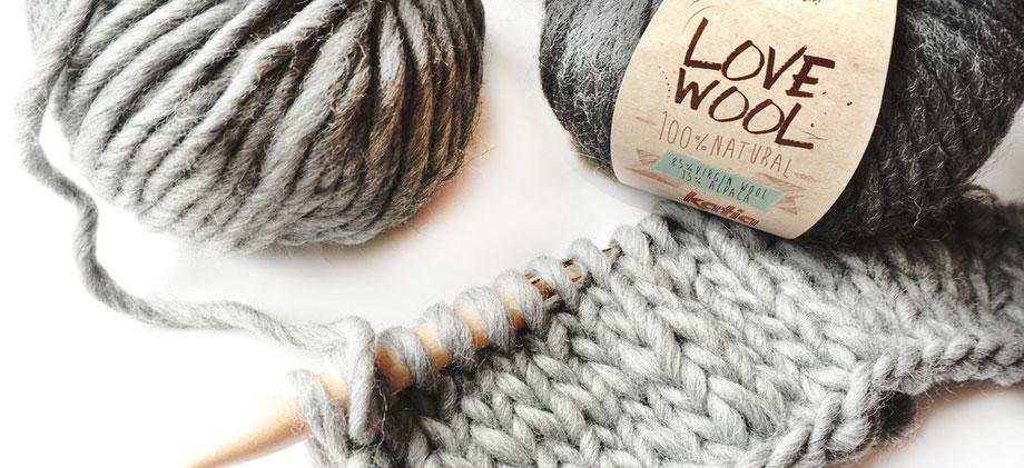 Lovewool - Extra dicke Wolle, ideal für Strickanfänger!