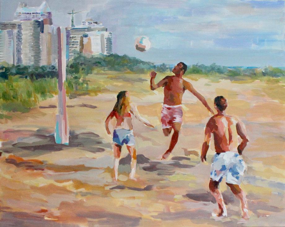 Miami Beach - Acryl on canvas 2015 - 100 x 80 cm - Motiv bei Hamburg zeigt Kunst als Poster DIN A 2 und als Magnet erhältlich